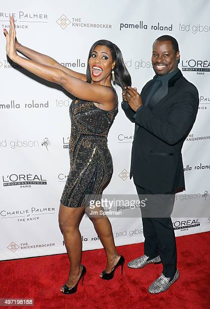 TV personality Omarosa ManigaultStallworth and celebrity hairstylist Ted Gibson attend the Ted Gibson's 50th birthday celebration at the...