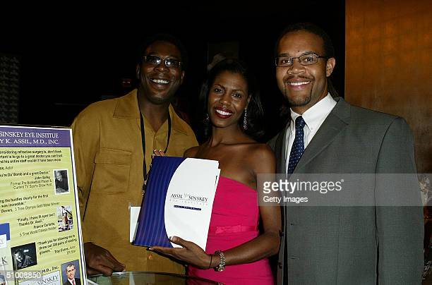 Personality Omarosa ManigaultStallworth and husband Aaron Stallworth visits the Assil Sinsky Laser Eye Procedure lounge at the Distinctive Asset Gift...