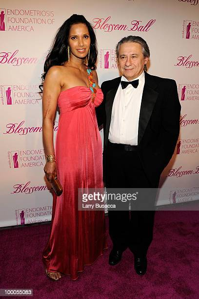 Personality Padma Lakshmi and Dr. Tamer Seckin attend the Second Annual Blossom Ball benefiting the Endometriosis Foundation of America at The New...