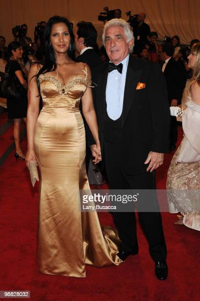 TV personality Padma Lakshmi and Ted Forstmann attend the Costume Institute Gala Benefit to celebrate the opening of the 'American Woman Fashioning a...