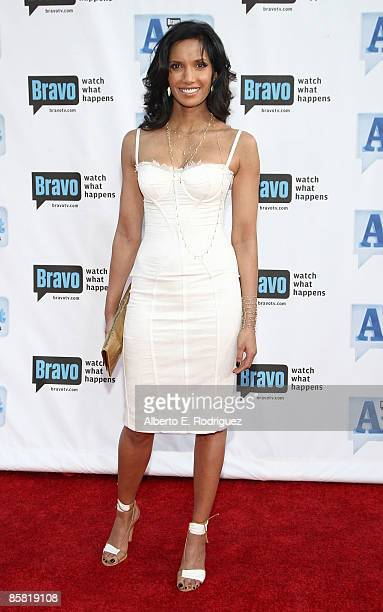 TV personality Padma Lakshmi arrives at Bravo's 2nd annual AList Awards held at the Orpheum Theater on April 5 2009 in Los Angeles California