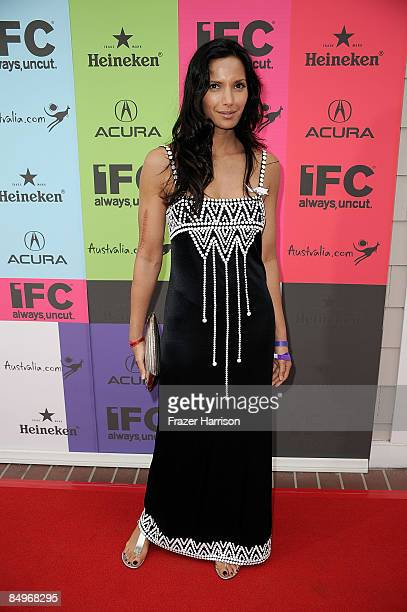 Personality Padma Lakshmi arrives at the 24th Annual Film Independent's Spirit Awards celebration on February 21 2009 in Santa Monica California