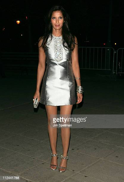 TV personality Padma Lakshmi arrives at the 7th Annual Tribeca Film Festival Vanity Fair Party at the State Supreme Courthouse on April 22 2008 in...