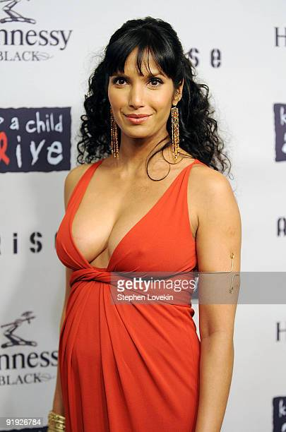 TV personality Padma Lakshmi attends Keep A Child Alive�s 6th Annual Black Ball at Hammerstein Ballroom on October 15 2009 in New York City