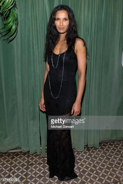 TV personality Padma Lakshmi attends the 2014 Turtle Ball at The Bowery Hotel on February 23 2014 in New York City