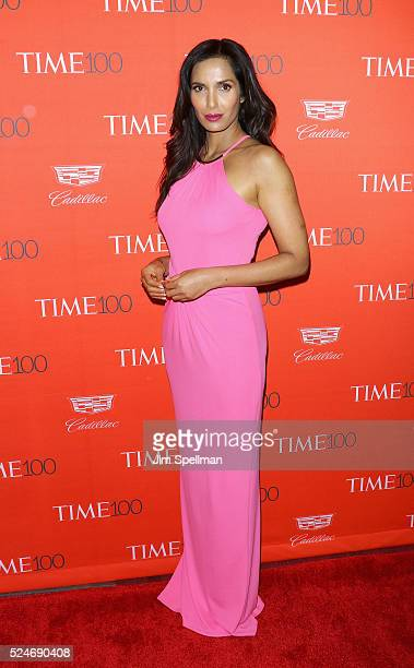 TV personality Padma Lakshmi attends the 2016 Time 100 Gala at Frederick P Rose Hall Jazz at Lincoln Center on April 26 2016 in New York City