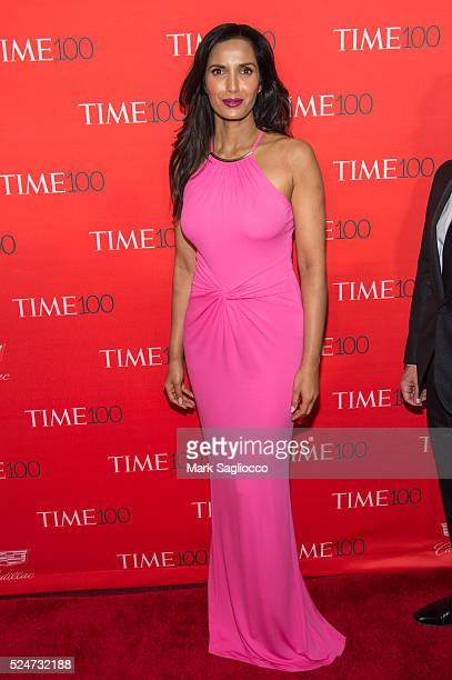Personality Padma Lakshmi attends the 2016 Time 100 Gala at Frederick P Rose Hall Jazz at Lincoln Center on April 26 2016 in New York City