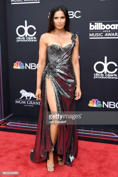 TV personality Padma Lakshmi attends the 2018 Billboard Music Awards at MGM Grand Garden Arena on May 20 2018 in Las Vegas Nevada