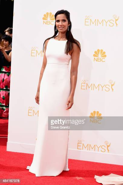 Personality Padma Lakshmi attends the 66th Annual Primetime Emmy Awards held at Nokia Theatre LA Live on August 25 2014 in Los Angeles California