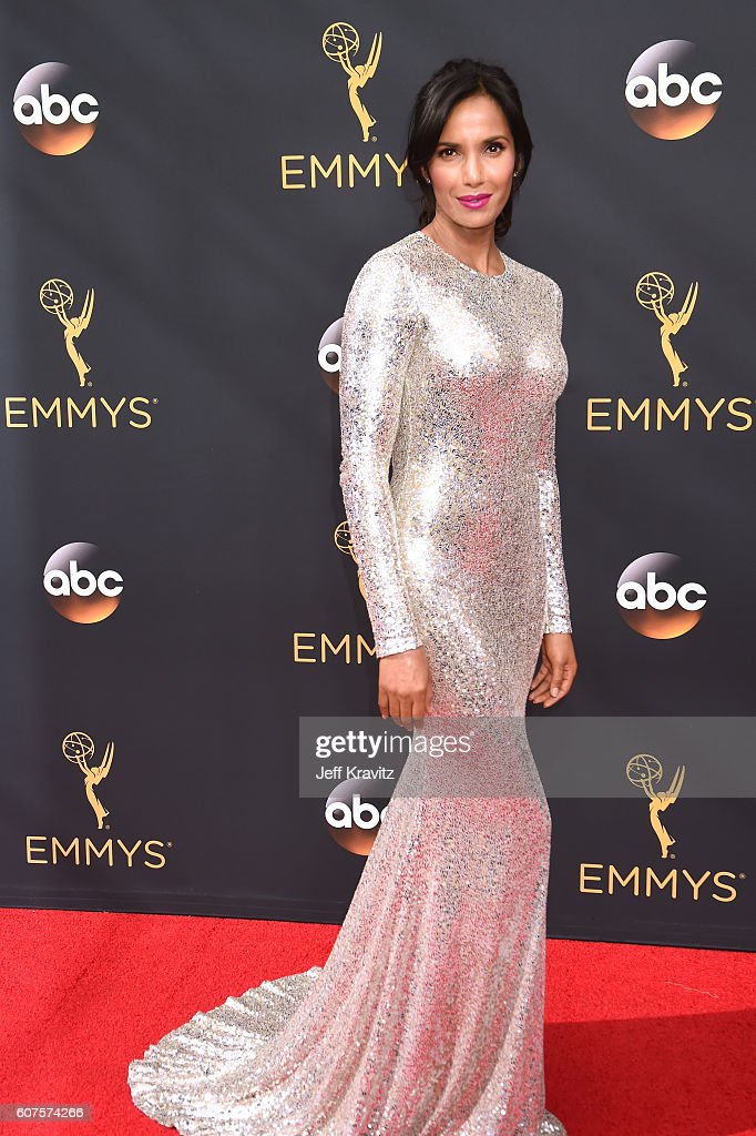 TV personality Padma Lakshmi attends the 68th Annual Primetime Emmy Awards at Microsoft Theater on September 18, 2016 in Los Angeles, California.