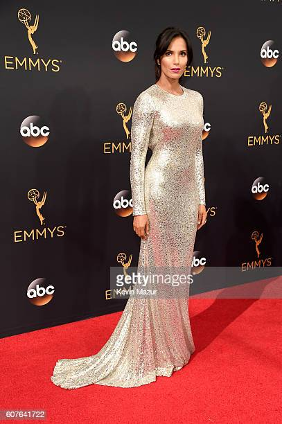 Personality Padma Lakshmi attends the 68th Annual Primetime Emmy Awards at Microsoft Theater on September 18, 2016 in Los Angeles, California.
