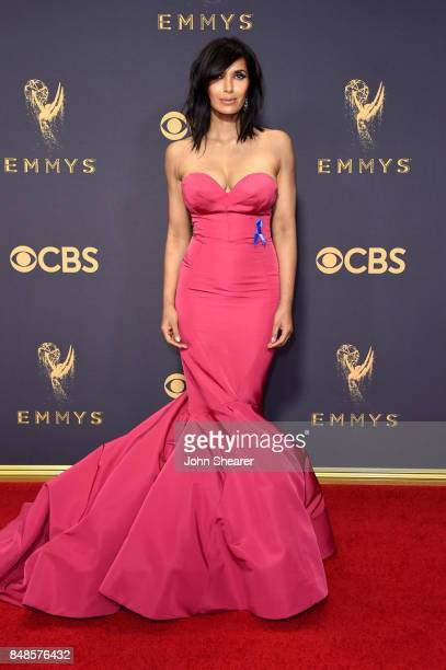 TV personality Padma Lakshmi attends the 69th Annual Primetime Emmy Awards at Microsoft Theater on September 17 2017 in Los Angeles California