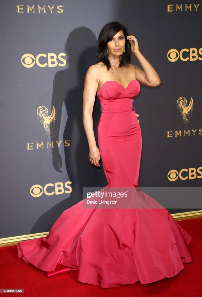 TV personality Padma Lakshmi attends the 69th Annual Primetime Emmy Awards - Arrivals at Microsoft Theater on September 17, 2017 in Los Angeles, California.
