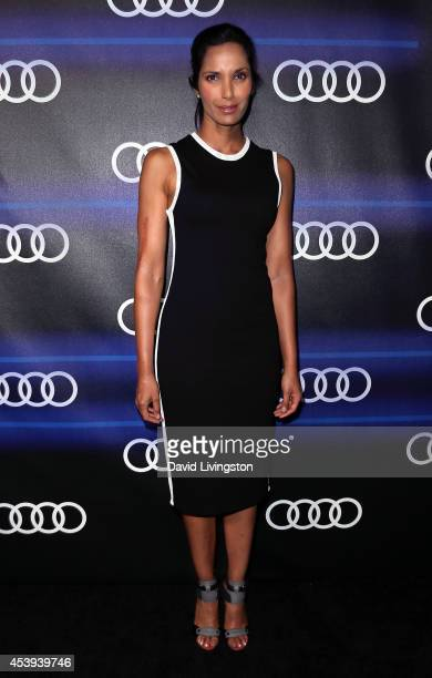 TV personality Padma Lakshmi attends the Audi celebration of Emmys Week 2014 at Cecconi's Restaurant on August 21 2014 in Los Angeles California