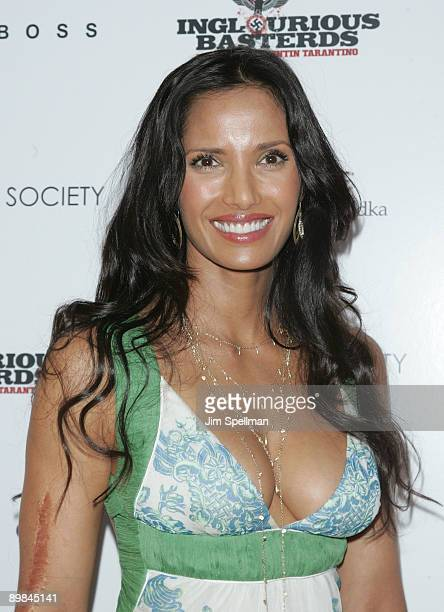 TV personality Padma Lakshmi attends The Cinema Society Hugo Boss screening of Inglourious Basterds at SVA Theater on August 17 2009 in New York City