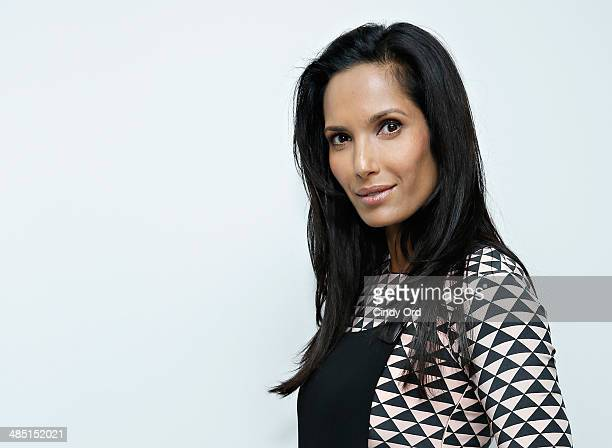 TV personality Padma Lakshmi attends the Derek Lam Jamie Wolf Black And White Jewelry Launch on April 16 2014 in New York City