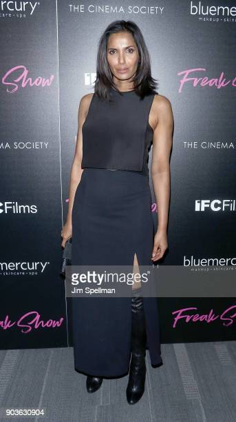 TV personality Padma Lakshmi attends the premiere of IFC Films' 'Freak Show' hosted by The Cinema Society and Bluemercury at Landmark Sunshine Cinema...