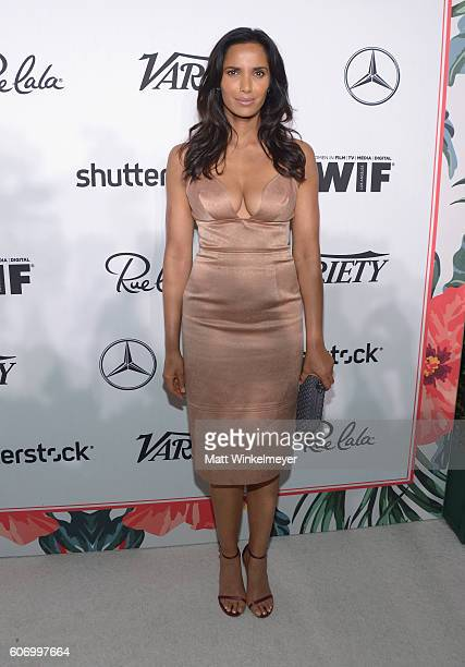 TV personality Padma Lakshmi attends Variety and Women in Film's PreEmmy Celebration at Gracias Madre on September 16 2016 in West Hollywood...