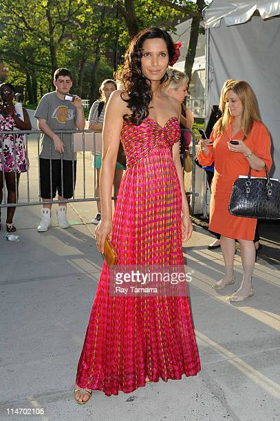 Personality Padma Lakshmi enters Lincoln Center on May 25, 2011 in New York City.