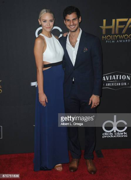 TV personality Paige Mobley and actor Skyler Bible arrive for the 21st Annual Hollywood Film Awards held at The Beverly Hilton Hotel on November 5...