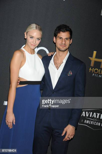 TV personality Paige Mobley and actor Skyler Bible attend the 21st Annual Hollywood Film Awards held at The Beverly Hilton Hotel on November 5 2017...