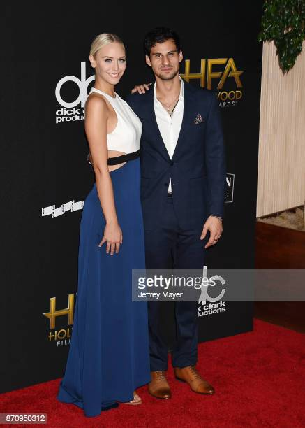 TV personality Paige Mobley and actor Skyler Bible attend the 21st Annual Hollywood Film Awards at The Beverly Hilton Hotel on November 5 2017 in...