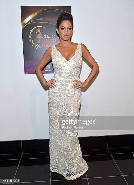 TV personality Pamela Silva Conde attends The 14th Annual Latin GRAMMY Awards at the Mandalay Bay Events Center on November 21 2013 in Las Vegas...