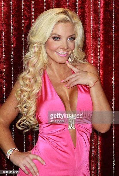 Personality Paola Durante attends Estrella TV's Mi Sueno Es Bailar season 4 news conference on March 13 2013 in Burbank California