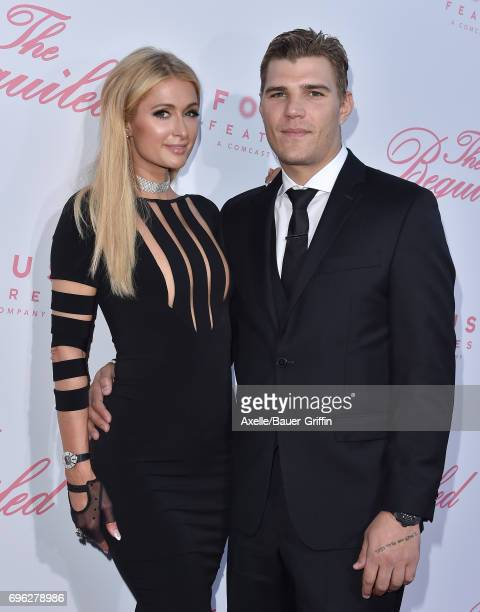 TV personality Paris Hilton and actor Chris Zylka arrive at the US Premiere of 'The Beguiled' at Directors Guild of America on June 12 2017 in Los...