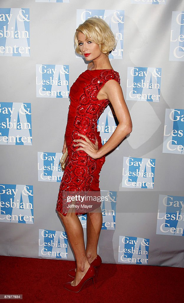 TV personality Paris Hilton arrives at An Evening With Women: Celebrating Art, Music, & Equality at The Beverly Hilton Hotel on April 24, 2009 in Beverly Hills, California.