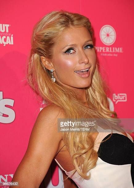 Personality Paris Hilton arrives at the Us Weekly Hot Hollywood Style Issue celebration held at Drai's Hollywood at the W Hollywood Hotel on April 22...