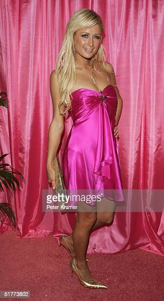 TV personality Paris Hilton attends a welcome home party from a month long trip on the road of Simple Life 3 Interns on November 21 2004 in New York...