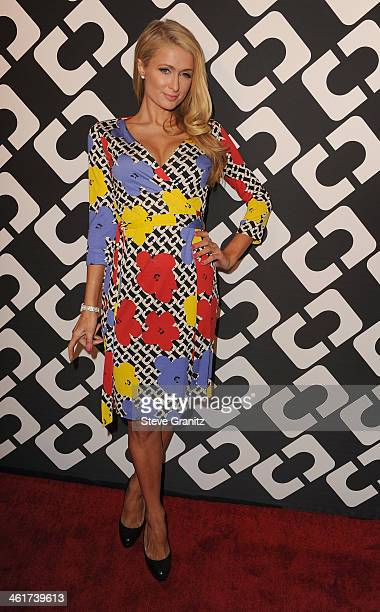 TV personality Paris Hilton attends Diane Von Furstenberg's Journey Of A Dress Premiere Opening Party at Wilshire May Company Building on January 10...