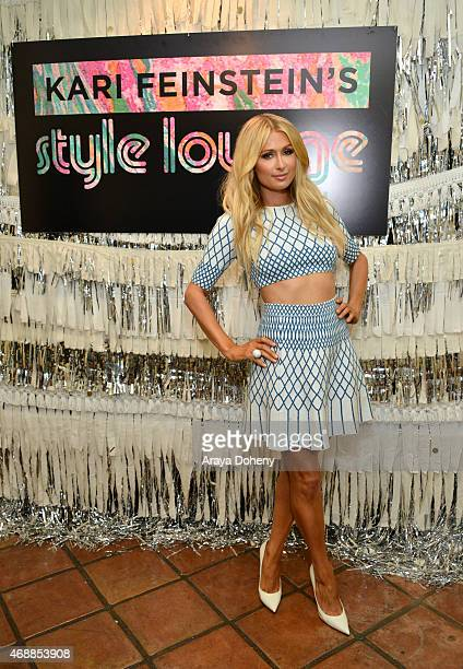 TV personality Paris Hilton attends Kari Feinstein's Music Festival Style Lounge at Sunset Marquis Hotel Villas on April 7 2015 in West Hollywood...