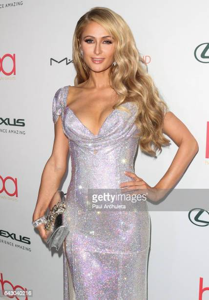 Personality Paris Hilton attends the 3rd annual Hollywood Beauty Awards at Avalon Hollywood on February 19, 2017 in Los Angeles, California.