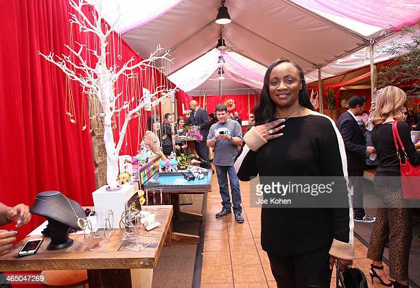 TV personality Pat Houston attends the GRAMMY Gift Lounge during the 56th Grammy Awards at Staples Center on January 25 2014 in Los Angeles California