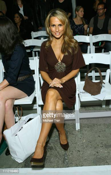 TV personality Patricia Kara backstage and frontrow at Joseph Domingo Spring 2008 collection during Los Angeles Mercedes Benz Fashion Week at...