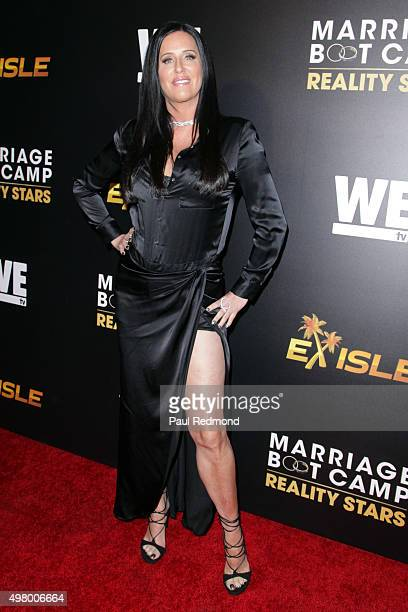 TV personality Patti Stanger arrives at We tv celebrates the Premiere of 'Marriage Boot Camp' Reality Stars and 'Exisled' at Le Jardin on November 19...