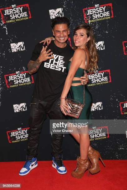 TV personality Paul DelVecchio aka DJ Pauly D and Maria Usi attend the Jersey Shore family vacation premiere party at Museo Casa de la Bola on April...