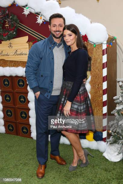 Personality Paul Khoury and Actress Ashley Greene attend the the Brooks Brothers annual holiday celebration in Los Angeles to Benefit St. Jude at the...