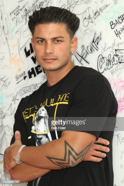 "Personality Paul ""Pauly D"" DelVecchio of ""The Jersey Shore"" visit SIRIUS XM Studio on July 7, 2010 in New York City."