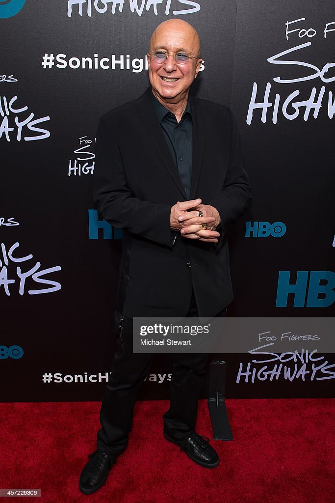 TV personality Paul Shaffer attends 'Foo Fighters: Sonic Highways' New York Premiere at Ed Sullivan Theater on October 14, 2014 in New York City.