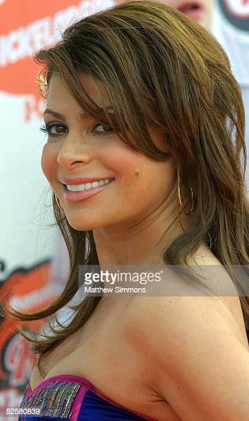 Personality Paula Abdul arrives at the 18th Annual Kids Choice Awards at UCLA's Pauley Pavillion on April 2 2005 in Westwood California