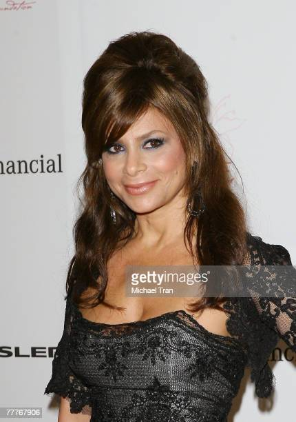TV personality Paula Abdul arrives at The Lili Claire Foundation 10th Annual Dinner and Auction at the Hyatt Regency Plaza Hotel on October 13 2007...