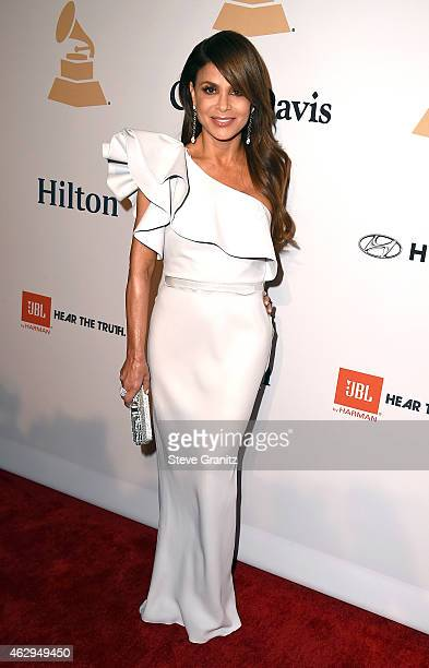 TV personality Paula Abdul attends the PreGRAMMY Gala and Salute To Industry Icons honoring Martin Bandier on February 7 2015 in Los Angeles...
