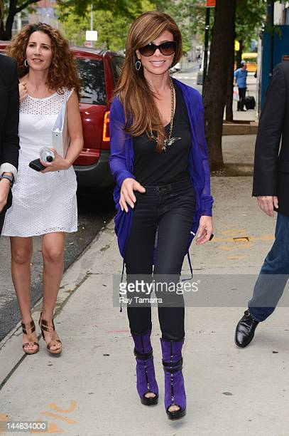 TV personality Paula Abdul enters the Wendy Williams Show taping at AMV Studios on May 16 2012 in New York City