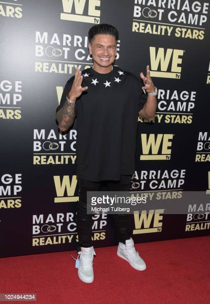 TV personality Pauly D attends WE TV's celebration of the return of Marriage Boot Camp Reality Stars at HYDE Sunset Kitchen Cocktails on August 28...