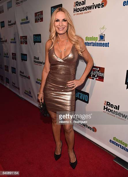 TV personality Peggy Tanous attends the premiere party for Bravo's The Real Housewives of Orange County 10 year celebration at Boulevard3 on June 16...