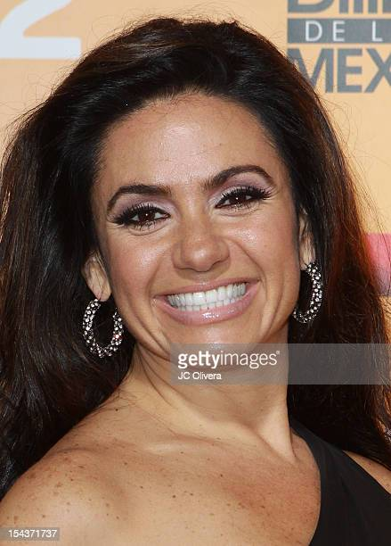 Personality Penelope Menchaca attends the 2012 Billboard Mexican Music Awards Telemundo Official After Party at The Edison on October 18 2012 in Los...