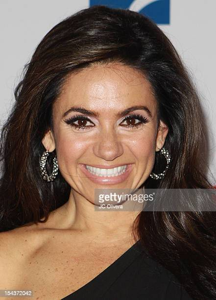 Personality Penelope Menchaca poses for a photograph at the 2012 Billboard Mexican Music Awards Press Room at The Shrine Auditorium on October 18...